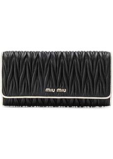 Miu Miu Matelassé foldover wallet