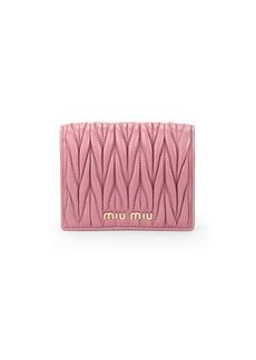 Miu Miu Matelassé Leather Bi-Fold Wallet