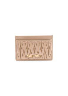 Miu Miu Matelassé Leather Card Case