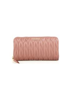 Miu Miu Matelassé Leather Zip Wallet
