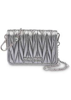 Miu Miu Matelassé mini shoulder bag