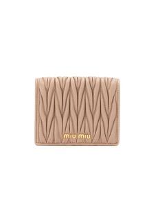 Miu Miu matelassé mini wallet
