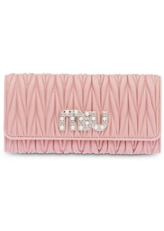 Miu Miu Matelassé nappa leather wallet