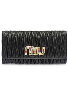 Miu Miu Matelassé nappa wallet
