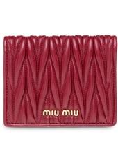 Miu Miu Matelassé small logo wallet