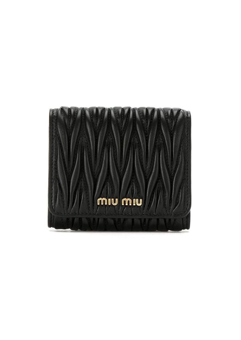 Miu Miu matelassé trifold wallet