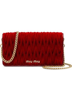 Miu Miu quilted wallet on chain