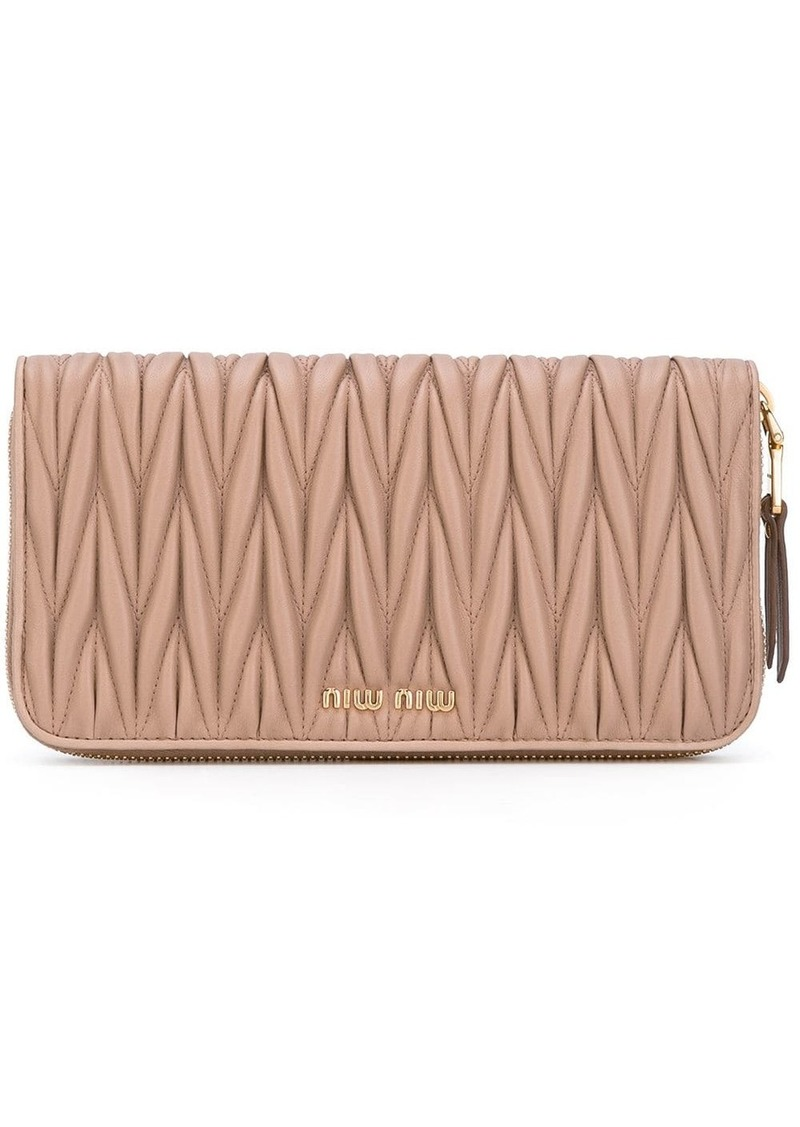Miu Miu matelassé zip around wallet