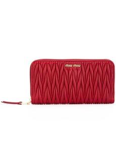 Miu Miu matelassé zip around wallet