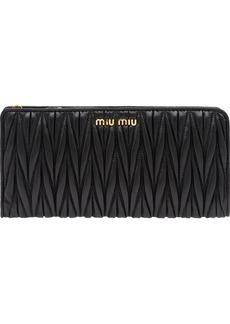 Miu Miu matelassé zip-around wallet