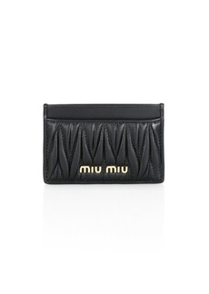 Miu Miu Matelasse Leather Card Case