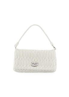 Miu Miu Matelasse Leather Shoulder Bag w/ Crystal Lock