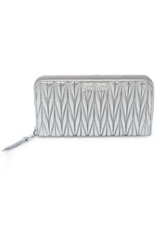 Miu Miu Matelasse Leather Zip Wallet
