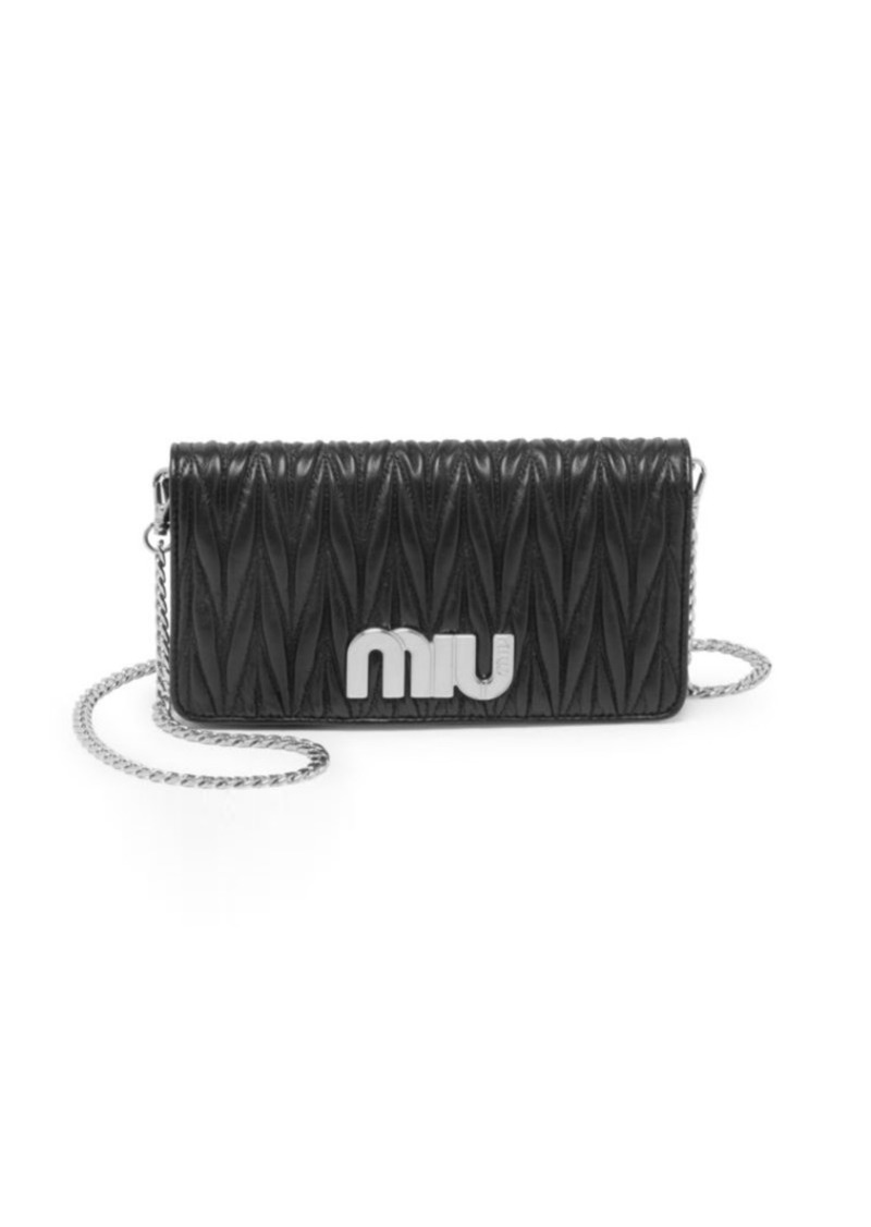 217443efc661 Miu Miu Matelasse Logo Wallet-On-Chain