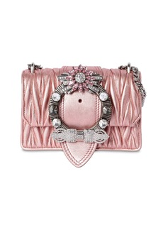 Miu Miu Med Miu Lady Quilt Metallic Leather Bag