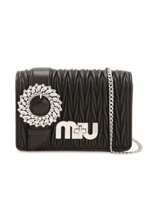 Miu Miu Med My Miu Buckle Quilted Leather Bag