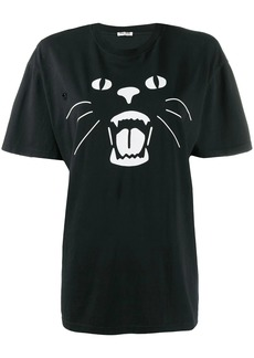 Miu Miu Meouw Meouw printed T-shirt