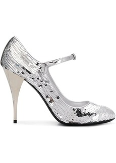 Miu Miu metallic ankle-strap pumps
