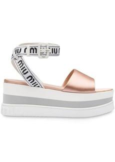 Miu Miu metallic detail platform sandals