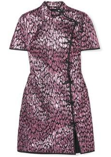 Miu Miu Metallic Jacquard Mini Dress