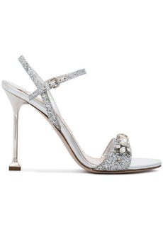 Miu Miu Metallic leather 105 sandals