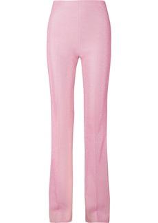Miu Miu Metallic Lurex Flared Pants