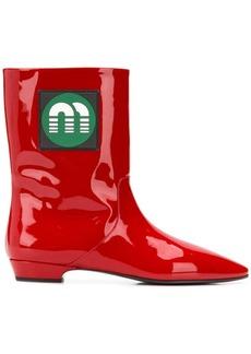 Miu Miu mid-calf logo boots