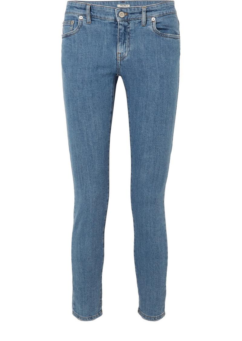 Miu Miu Mid-rise Slim-leg Jeans