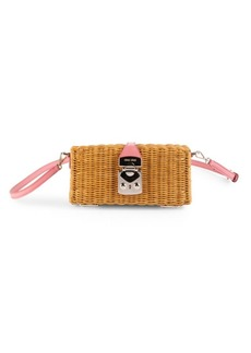 Miu Miu Midollino Rattan & Leather Box Bag