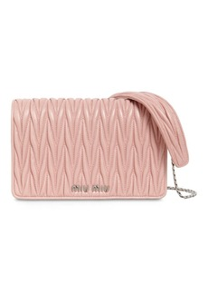 Miu Miu Mini Delice Quilted Leather Shoulder Bag