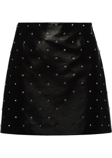Miu Miu mini leather skirt