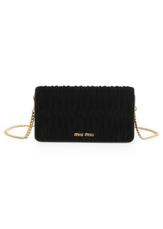 Miu Miu Mini Matlasse Velvet Shoulder Bag