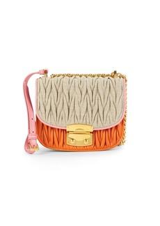 Miu Miu Miscellaneous Ruched Crossbody Bag