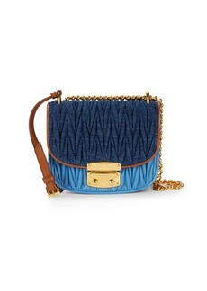 Miu Miu Miscellaneous Ruched Saddle Bag