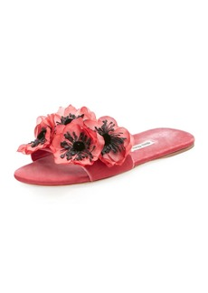 Miu Miu 3D Floral-Embellished Slide Sandal