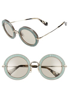 Miu Miu 48mm Round Sunglasses