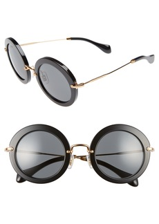 Miu Miu 49mm Round Retro Sunglasses