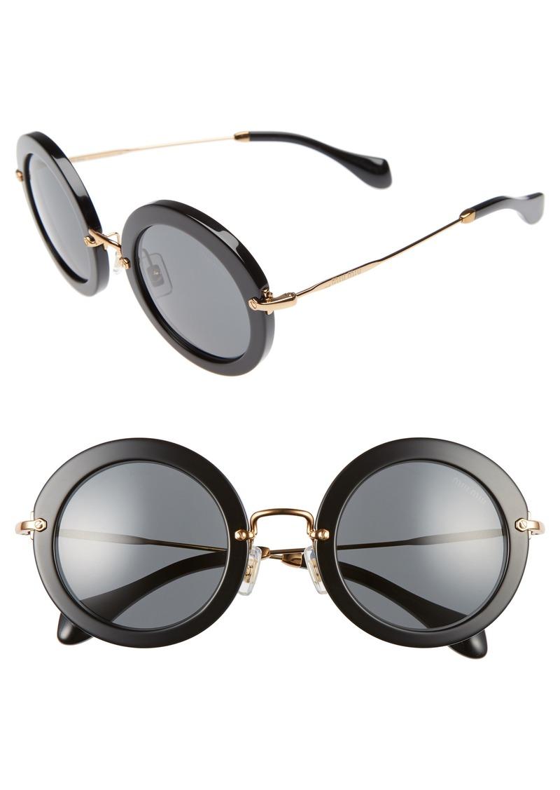 miu miu miu miu 49mm round retro sunglasses sunglasses shop it to me. Black Bedroom Furniture Sets. Home Design Ideas