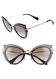 Miu Miu 50mm Cat Eye Sunglasses