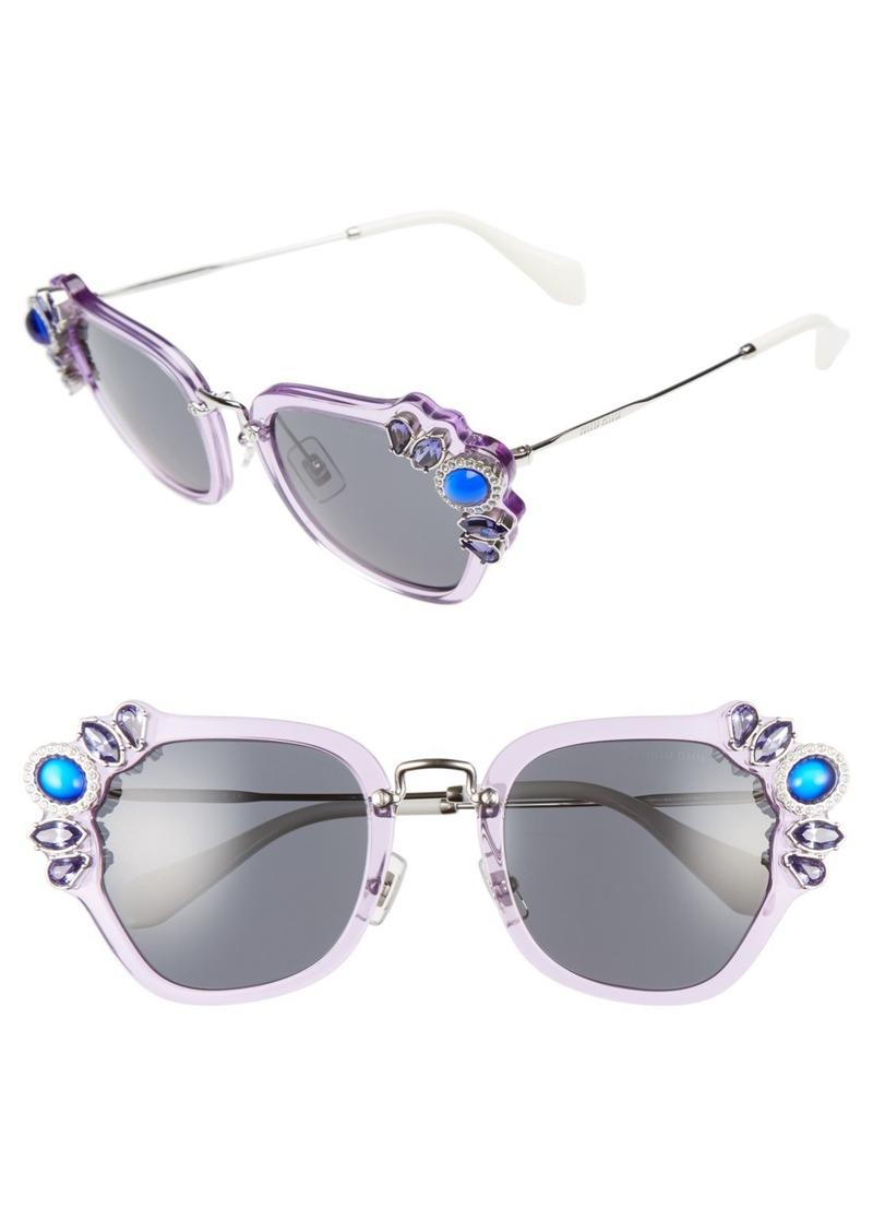 miu miu miu miu 51mm embellished sunglasses sunglasses shop it to me. Black Bedroom Furniture Sets. Home Design Ideas