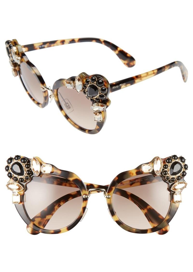 Miu Miu 52mm Cat Eye Sunglasses