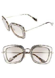 Miu Miu 52mm Glitter Sunglasses