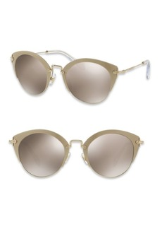 Miu Miu 52MM Mirrored Phantos Sunglasses