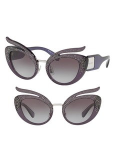 Miu Miu 53mm Pavé Cat Eye Sunglasses