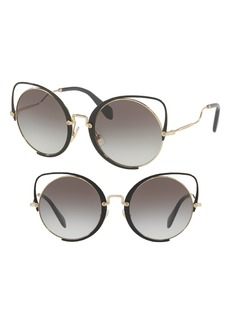 Miu Miu 54mm Gradient Round Lens Cat Eye Sunglasses