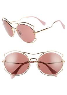 Miu Miu 57mm Retro Sunglasses