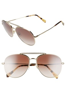 Miu Miu 57mm Round Aviator Sunglasses