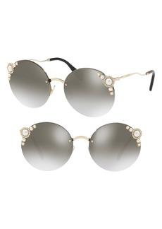 Miu Miu 60mm Gradient Embellished Sunglasses