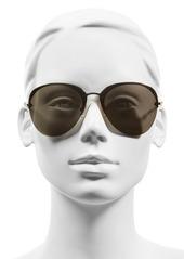 Miu Miu 60mm Semi Rimless Aviator Sunglasses
