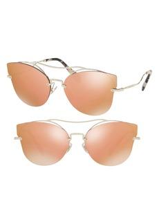 Miu Miu 62mm Aviator Sunglasses
